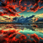 Paint By Number Landscape Cloudy Red - Paint By Number Shop