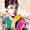 Paint By Number Kit Abstract Audrey Hepburn - Paint By Number Shop