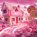 Paint By Number Kit Landscape Candy House - Paint By Number Shop