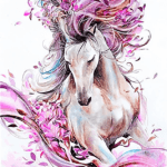 Paint by Number Kit Abstract Horse - Paint By Number Shop