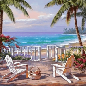 Paint by Numbers Kit Landscape Seaside - Paint By Numbers Kit Shop