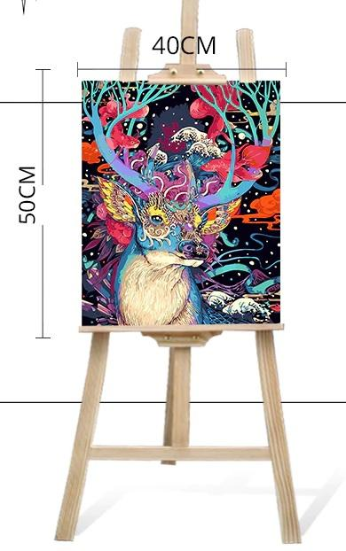 Paint By Numbers Kit Abstract Deer - Paint By Number Shop