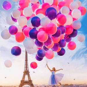 Paint By Numbers Kit Paris balloons - Paint By Numbers Kit Shop