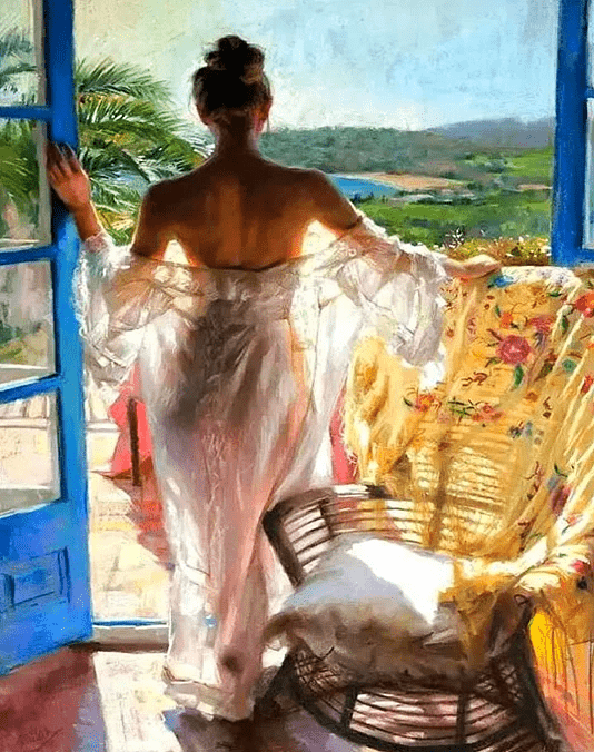 Paint By Numbers Kit Woman on the Beach - Paint By Numbers Kit Shop