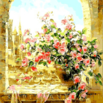 Paint By Number Kit Flower Window - Paint By Number Shop