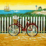 Paint by Numbers Kit Landscape Bicycle - Paint By Numbers Kit Shop