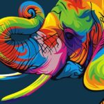 Paint By Number Kit Abstract Elephant - Paint By Number Shop