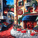 Paint by Numbers Kit Landscape Small Town - Paint By Numbers Kit Shop