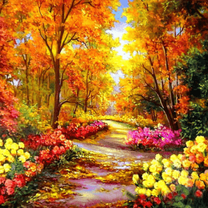 Paint By Numbers Kit Fall Forest - Paint By Numbers Kit Shop