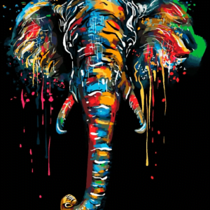 Abstract Elephant Paint By Numbers Kit - Paint By Number Shop