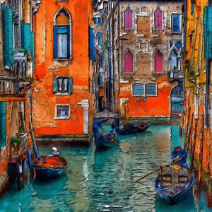 Paint by Numbers Kit Vintage Venice - Paint By Numbers Kit Shop
