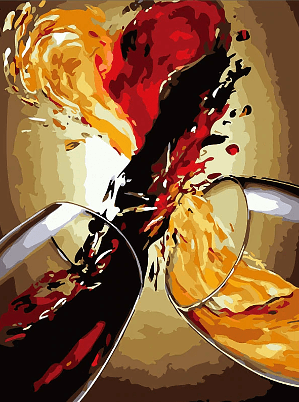Paint by Numbers Kit Abstract Wine - Paint By Numbers Kit Shop