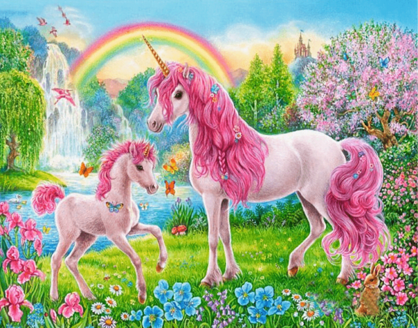 Paint by Numbers Kit for Kids Pink Unicorn - Paint By Numbers Kit Shop