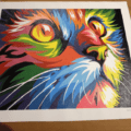 Paint by Numbers Kit Colorful Cat - Paint By Numbers Kit Shop