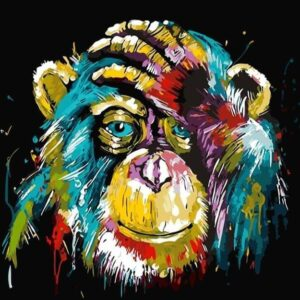 Paint by Numbers Kit Abstract Monkey - Paint By Numbers Kit Shop