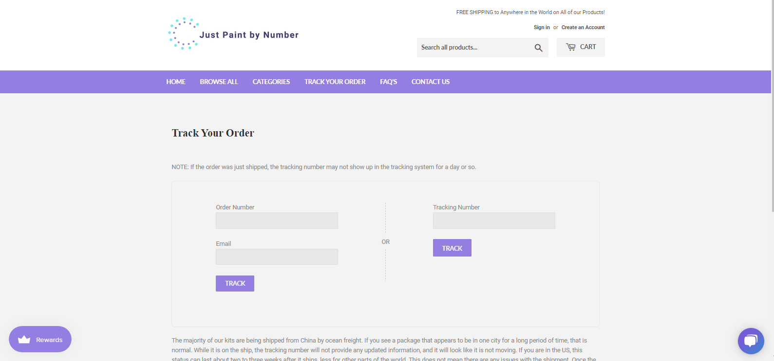 Improved Order Tracking System - Paint By Number Shop