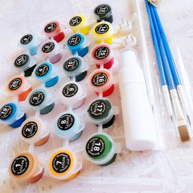 Paint by Numbers Kit Abstract Flower - Paint By Number Shop