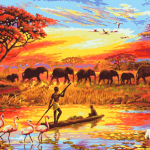 Paint By Number Kit Landscape Natural Africa - Paint By Number Shop
