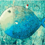 Paint by Number Kit Abstract Blue Fish - Paint By Number Shop
