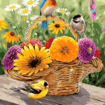Paint by Numbers Kit Birds & Flowers - Paint By Numbers Kit Shop