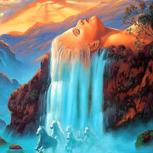 Paint By Number Kit Abstract Woman Waterfall - Paint By Number Shop