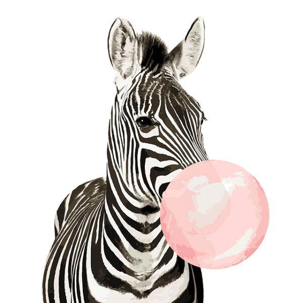 Painting by Numbers Kit for Kids Zebra Modern Art - Paint By Numbers Kit Shop
