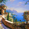 Paint By Numbers Kit Landscape Colorful - Paint By Numbers Kit Shop