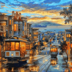 Paint By Numbers Kit Landscape San Francisco - Paint By Numbers Kit Shop