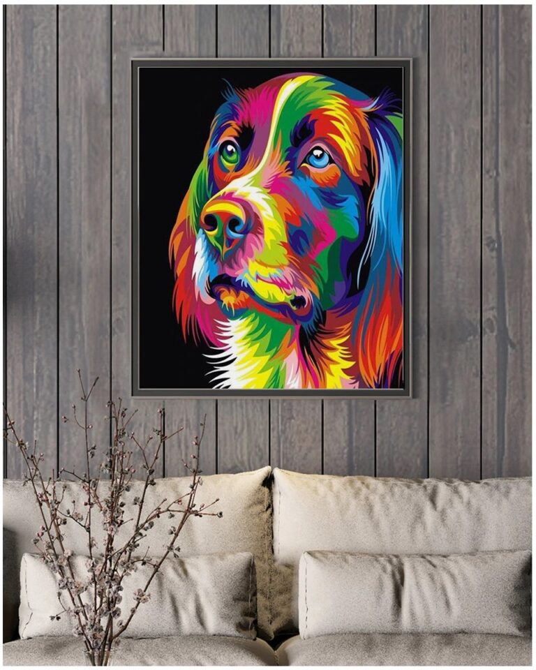 Paint by Numbers Kit Abstract Dog - Paint By Number Shop
