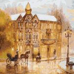 Vintage Europe Street Paint by Numbers - Paint By Numbers Kit Shop