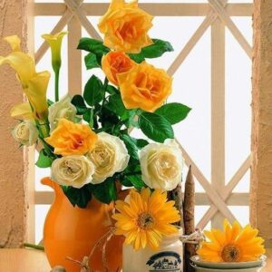 Yellow Flowers Paint by Numbers Kit - Paint By Numbers Kit Shop