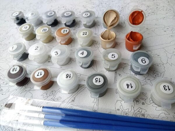 Vintage Rome Colosseum Paint by Numbers Kit - Paint By Numbers Kit Shop