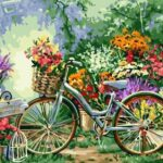 Paint by Numbers Kit Flowers Bicycle - Paint By Numbers Kit Shop