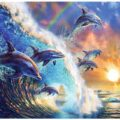 Dolphin Fantasy Paint By Numbers Kit - Paint By Number Shop