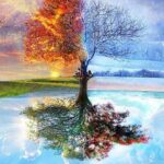 Paint By Numbers Kit Abstract Season Tree - Paint By Numbers Kit Shop