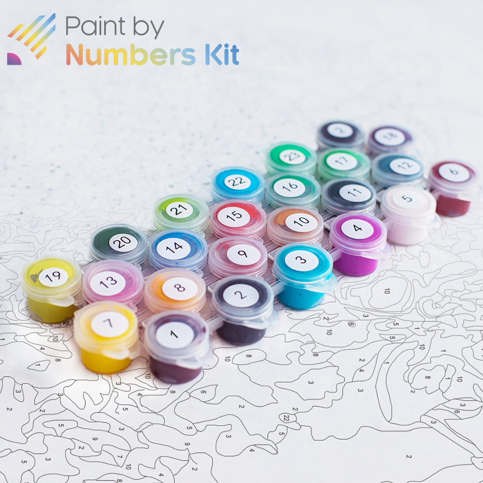 numbers painting kit